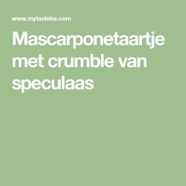 Mascarponetaartje met crumble van speculaas
