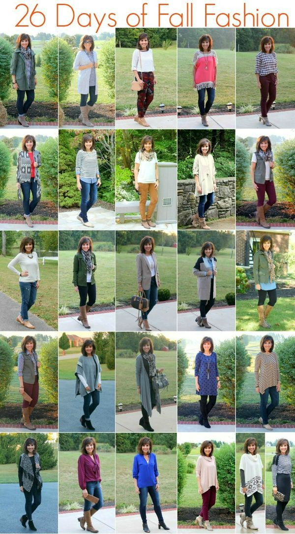 26 Days of Fall Fashion For Women over 40. The best outfit for fall. I love jeans and boots.
