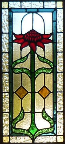 Leadlight Window Waratah Design