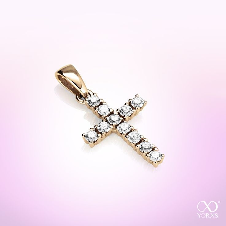 With lots of love: Yellow gold cross with 11 brilliants (0,33 ct). #kreuzanhänger #diamantanhänger #goldanhänger #goldkreuz #diamantkreuz #diamantkreuz033ct #yorxs