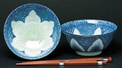 Concept Japan Yuri Gift Boxed 2 Bowl Set - lily blue