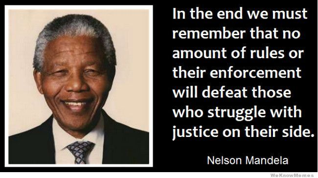 Rest In Paradise Nelson Mandela 1918-2013 { Nelson Mandela Quotes } ~ JUSTICE Top 10