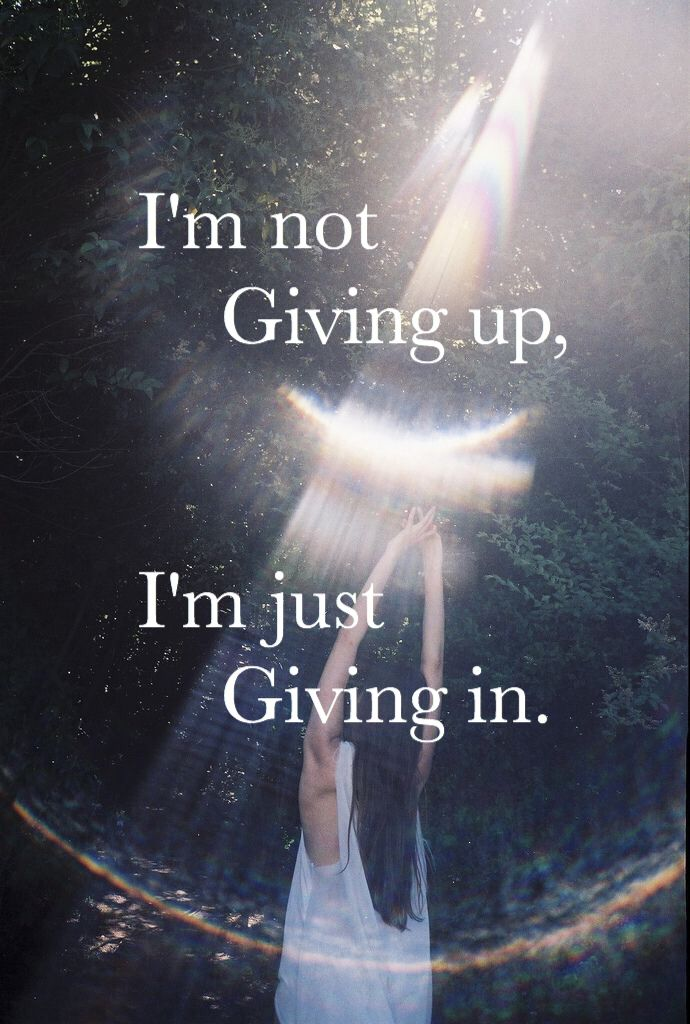 I'm not giving up, I'm just giving in | Never let me go - Florence and the machine credits@thesafiya