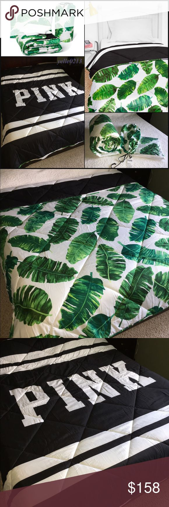 "SALENwt VS PINK Bed in a Bag F/Q Nwt VS PINK Bed in a Bag Set..  Size full/queen.. Tropical Palms..  Includes: 1 Fitted Sheet 1 Bed Sheet  2 Pillow Case  1 Reversible Comforter 84"" x 88""  BRAND NEW NEVER USED..  Price is firm here or i can lower thru Ⓜ️&️ Thank you.. Victoria's Secret Accessories"