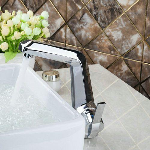 Tall Spray Spout Single Handle Bathroom Vanity Vessel Deck Mounted 92306 Basin Vessel Sink Single Handle Chrome Tap Mixer Faucet #Affiliate
