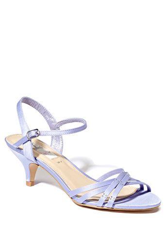 Cornflower Occasion Satin Strap Sandals with Diamante Trim