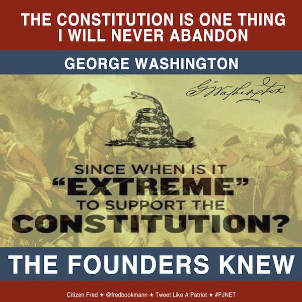 It's not extreme to want a Constitution as was intended by the founding fathers of this nation.