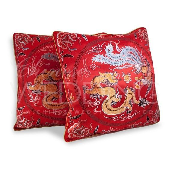 Tea Ceremony Chinese Wedding Red Kneeling Cushion | Tea ceremony ...