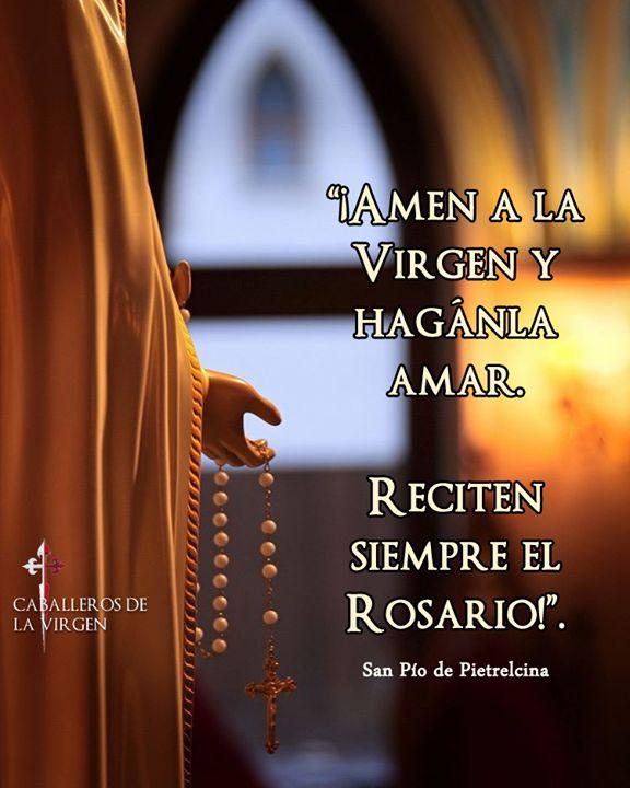 Recuerda el rezo del Santo Rosario todos los días: http://ift.tt/2jL58cm  Gozosos (lunes y sábado) Luminosos (jueves) Dolorosos (martes y viernes) Gloriosos (miércoles y domingos