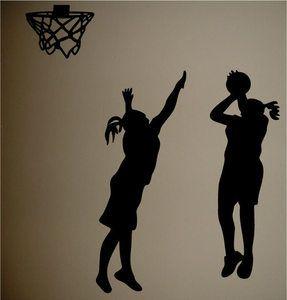 Basketball Silhouettes Girls Room Wall Decal Decor | eBay
