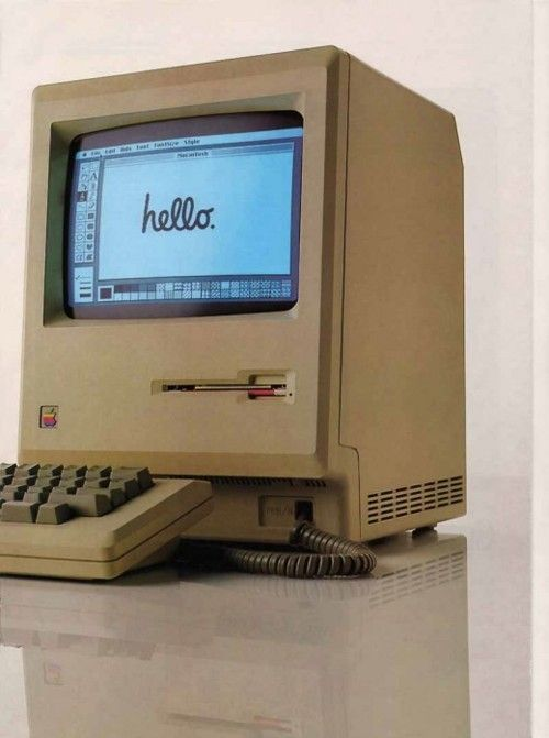 Blast from the past.... a macintosh, do you even remember that word?!