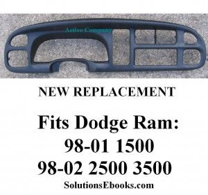 1998 1999 2000 2001 Dodge Ram 1500 Dash Bezel dashboard instrument cluster trim - 2002 2500 3500. A replacement. Click to check it out and buy at a fraction of what it would cost at the Dodge dealer!