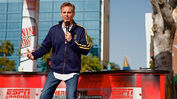 Colin Cowherd on ESPN Radio is my absolute favorite. I listen to him every single day. Very opinionated but makes a lot of sense (to me).