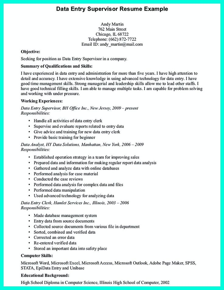 perfect data entry resume samples to get hired