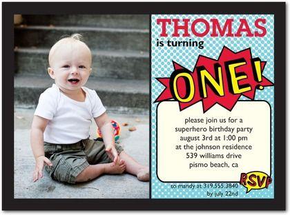 107 best SuperHero Birthday Party images – Tiny Prints Birthday Party Invitation
