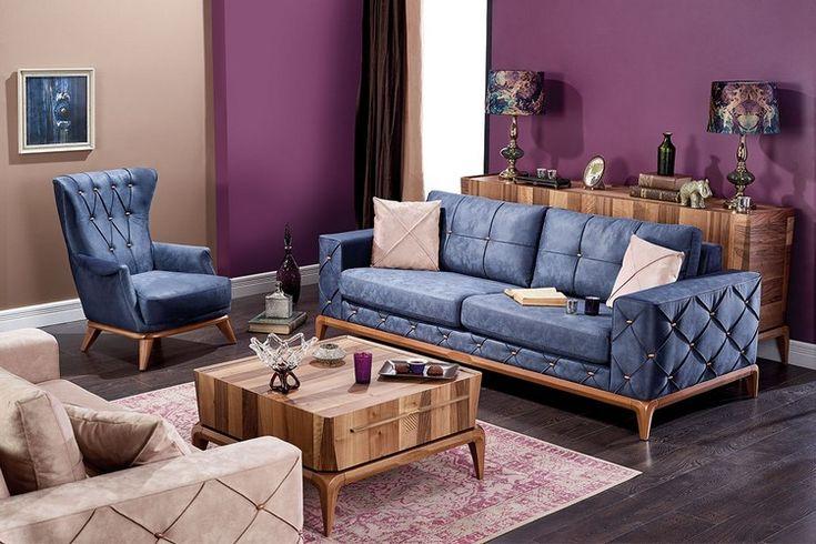 Petrol mavisi renklerde içinizi ferahlatan tasarımları ile Aldora mobilya 2017 yılında evlerinize modayı getiriyor. Klasik ve modern stillerde odanızı dekore etmek istiyorsanız bu koltuk tak�