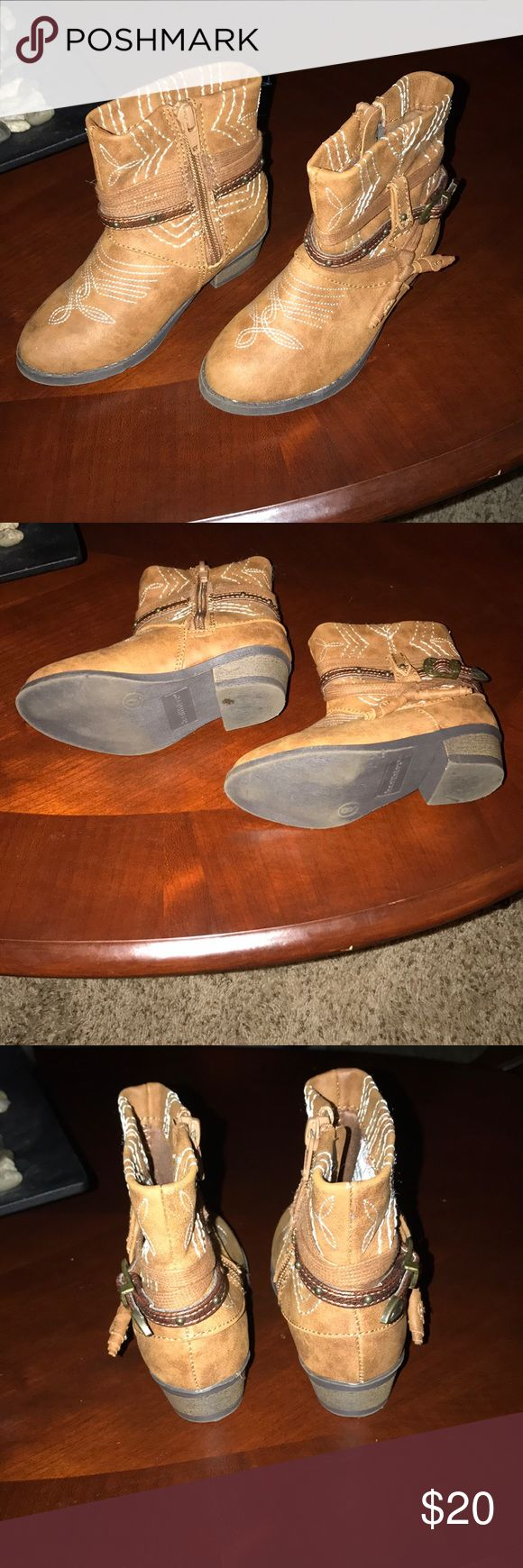 Toddler girl's cowboy boots Brown, EUC boots Shoes Boots
