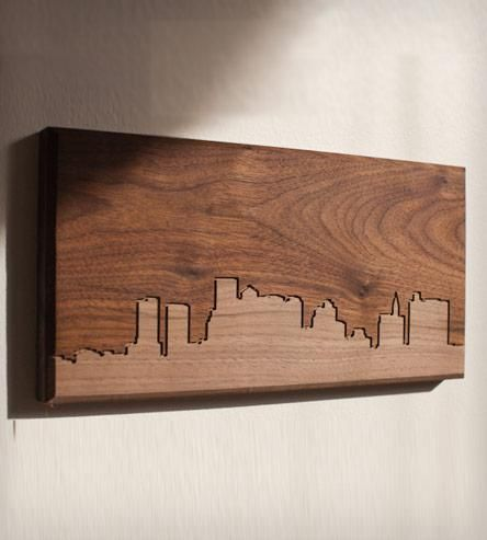 Boston Skyline Wood Art | Gifts Local Pride | Dave Marcoullier | Scoutmob Shoppe | Product Detail