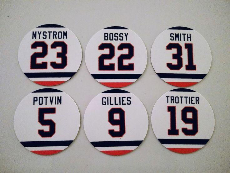 New York Islander Magnets - Bossy, Nystrom, Gillies, Potvin, Smith, Trottier #NewYorkIslanders