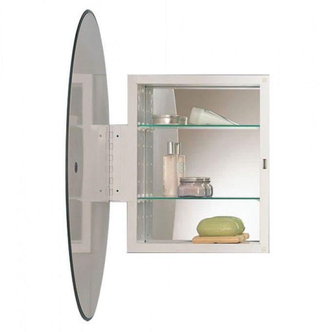 Metro Oval Recessed Medicine Cabinet With Beveled Mirror