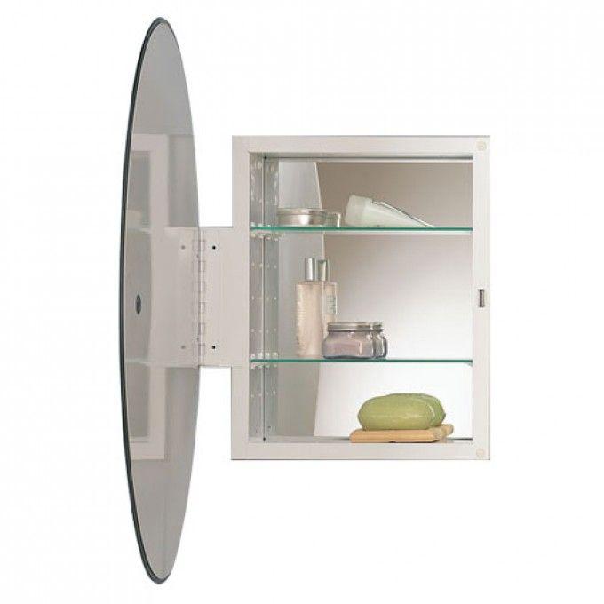 metro oval recessed medicine cabinet with beveled mirror medicine cabinets bathroom