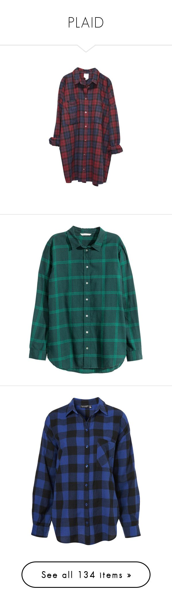 """""""PLAID"""" by chemicalfallout249 on Polyvore featuring tops, shirts, dresses, flannels, monki, petrol, long sleeve tops, collar top, green long sleeve top and collared shirt"""
