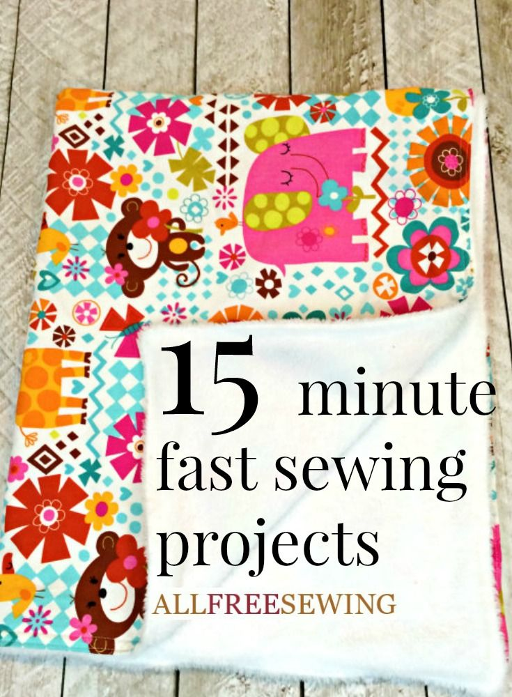 25 Things to Sew in Under 10 Minutes-Easy Sewing Projects