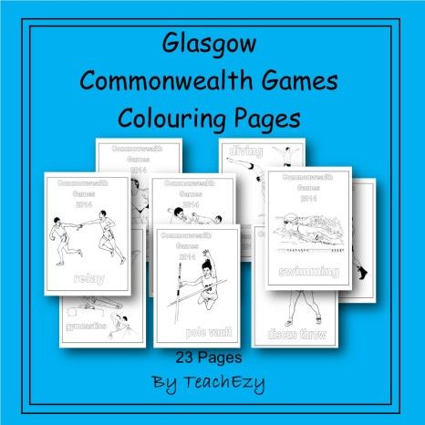 Commonwealth Games Colouring Primary