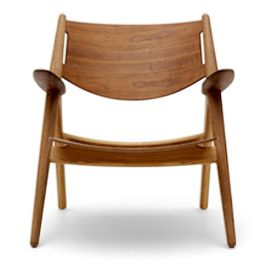 Products - Carl Hansen & Søn  An exceptionally comfortable armchair and a typical Wegner piece - functional and sculptural with an exceptional finish and available in solid wood or upholstered.    Designed by Hans J. Wegner.