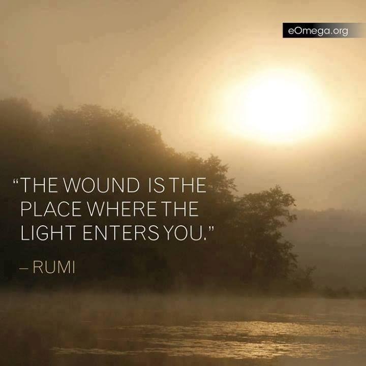 rumi quote, a broken heart is an open heart  New Moon