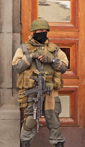 Ukraine - Russian Special Forces Operator during Crimea Invasion 2014.