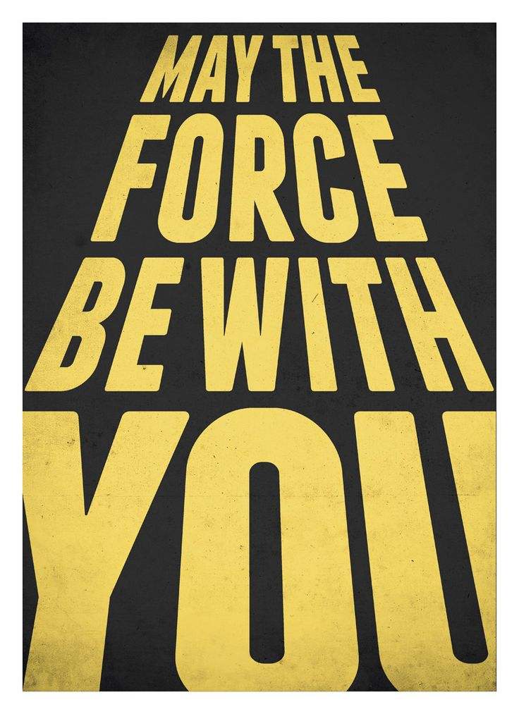 Star Wars typography poster - May the force be with you - Retro-style Nursery decor poster A3.  via Etsy.