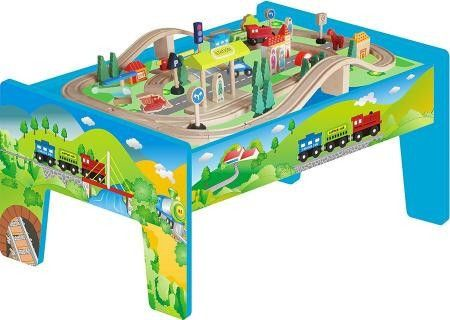 70 Piece Wooden Train Table Set