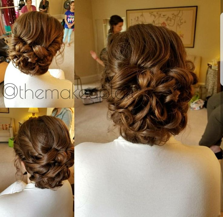 Textured teased bun updo for light brown hair! Love the balance between smooth & textured here!