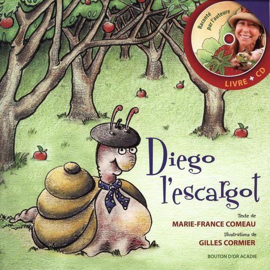 Je m'appelle Diego l'escargot : P'tit Gris comme on dit chez moi, en Bourgogne. Et je cherche en Acadie l'être qui pourrait m'aimer plus que tout au monde.