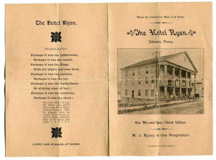 RYAN HOTEL, OPERA HOUSE EARLY TIDIOUTE Interesting