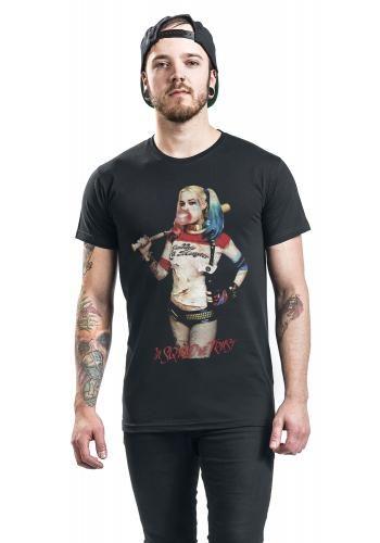 """Classica T-Shirt uomo nera """"Harley Quinn - Pose"""" di #SuicideSquad."""