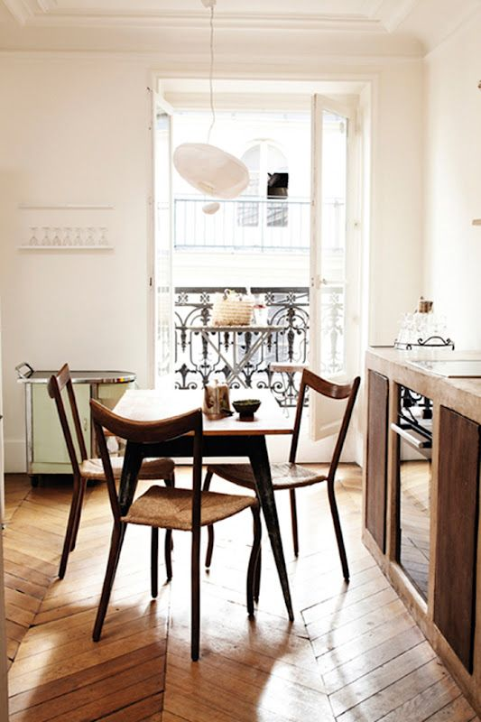 Love the chairs, the table, and especially the FLOOR!