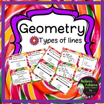 367 best 5th grade math images on pinterest school teaching geometry types of lines task cards fandeluxe Choice Image