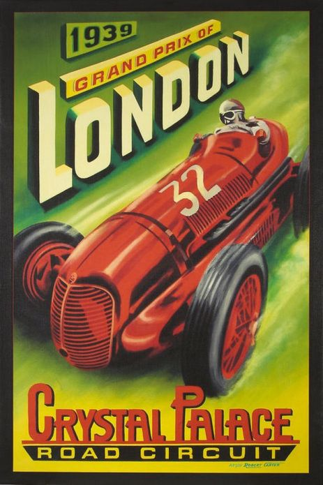 1939-london-grand-prix carteles de coches vintage