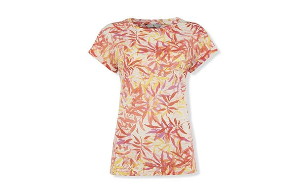 """Palm Print Tee. """"Be transported to tropical climates in this pretty printed tee."""""""