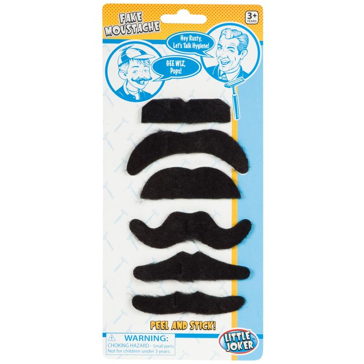 Fake mustache to create a cowboy or outlaw vibe for kids cowboy/western party