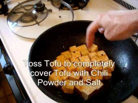 A step-by-step guide on Chinese cooking. This is a basic Fried Tofu recipe. There are many ways to cook tofu. This shows you the basic steps and you can change ingredients to suit your pallet.