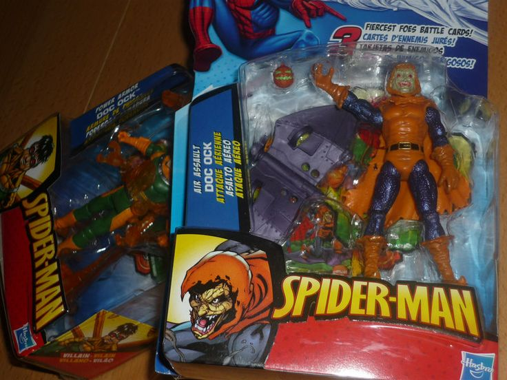 """Doctor Hobgoblinpuss - Games and Toys (Pix)  Picked up a couple unique Spider-man Villain figures we hadn't seen before.  I'm not sure I like the look of the new """"Air Assault Doc Ock"""" figure though. He's not very tentacle-ly."""