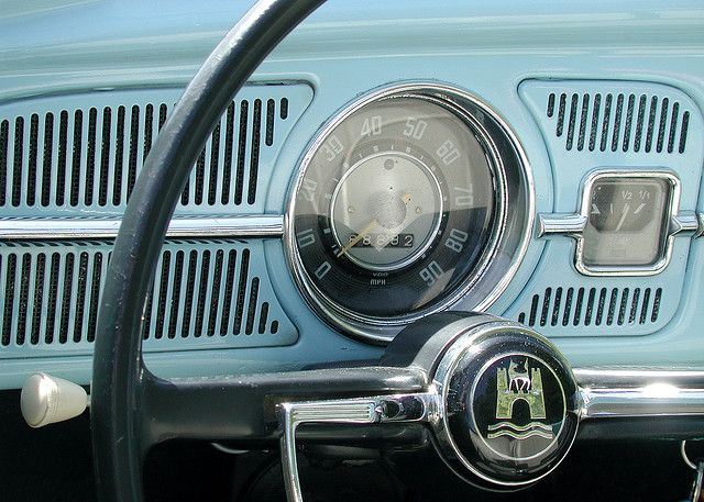 The dashboard of an old VW like the one Jack drives in the novel.  (photo credit: a dash of blue | Flickr - Photo Sharing!)