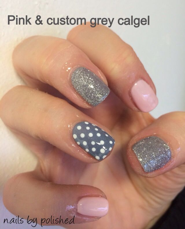 65 best calgel nails by polished images on pinterest calgel custom grey and candy floss calgel prinsesfo Gallery