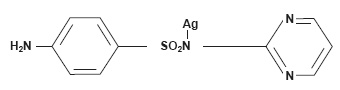 Cream for burnsSILVADENE (silver sulfadiazine) structural formula illustration