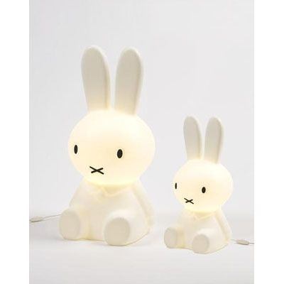 Dutch design only.  Miffy - Nijntje Lamp large - Lighting - Collection - things design.  Made in Holland.