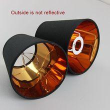 6 UNIDS Modern Fashion Negro cubre la lámpara de plástico de color oro, PVC pantallas, E14(China (Mainland))