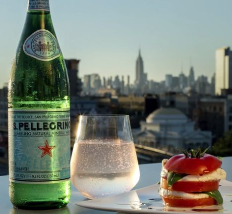 Explore the flavors of New York City with S.Pellegrino and a Caprese salad. Juicy tomato and soft mozzarella are topped with farm-fresh basil in this simple but elevated appetizer. Experience dining from coast to coast and find your guide to good taste with the S.Pellegrino Taste Guide.